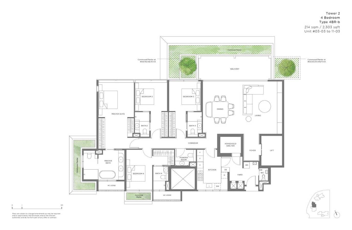 15 Holland Hill - Floor Plan - 4 Bedroom 4BR-b