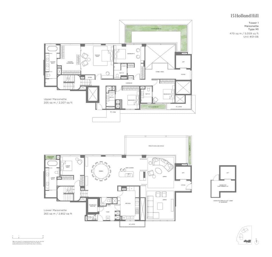15 Holland Hill - Floor Plan - Maisonette M1
