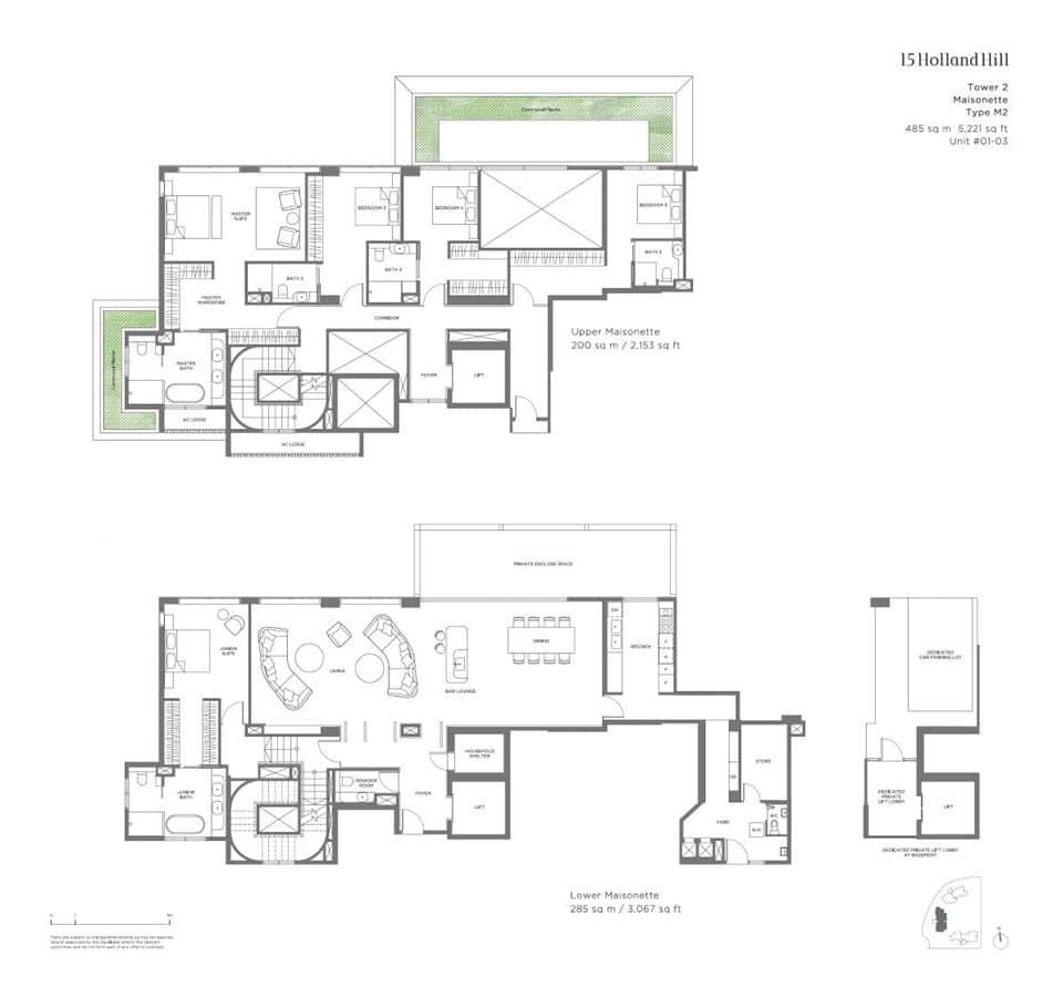 15 Holland Hill - Floor Plan - Maisonette M2
