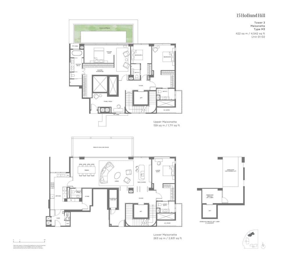 15 Holland Hill - Floor Plan - Maisonette M3