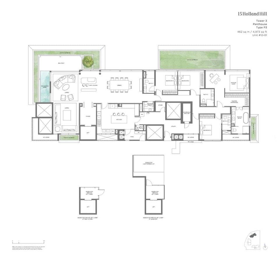 15 Holland Hill - Floor Plan - Penthouse P3