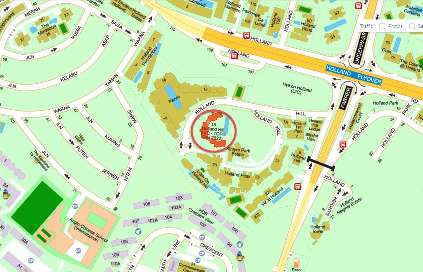 15 Holland Hill - Street Directory Map
