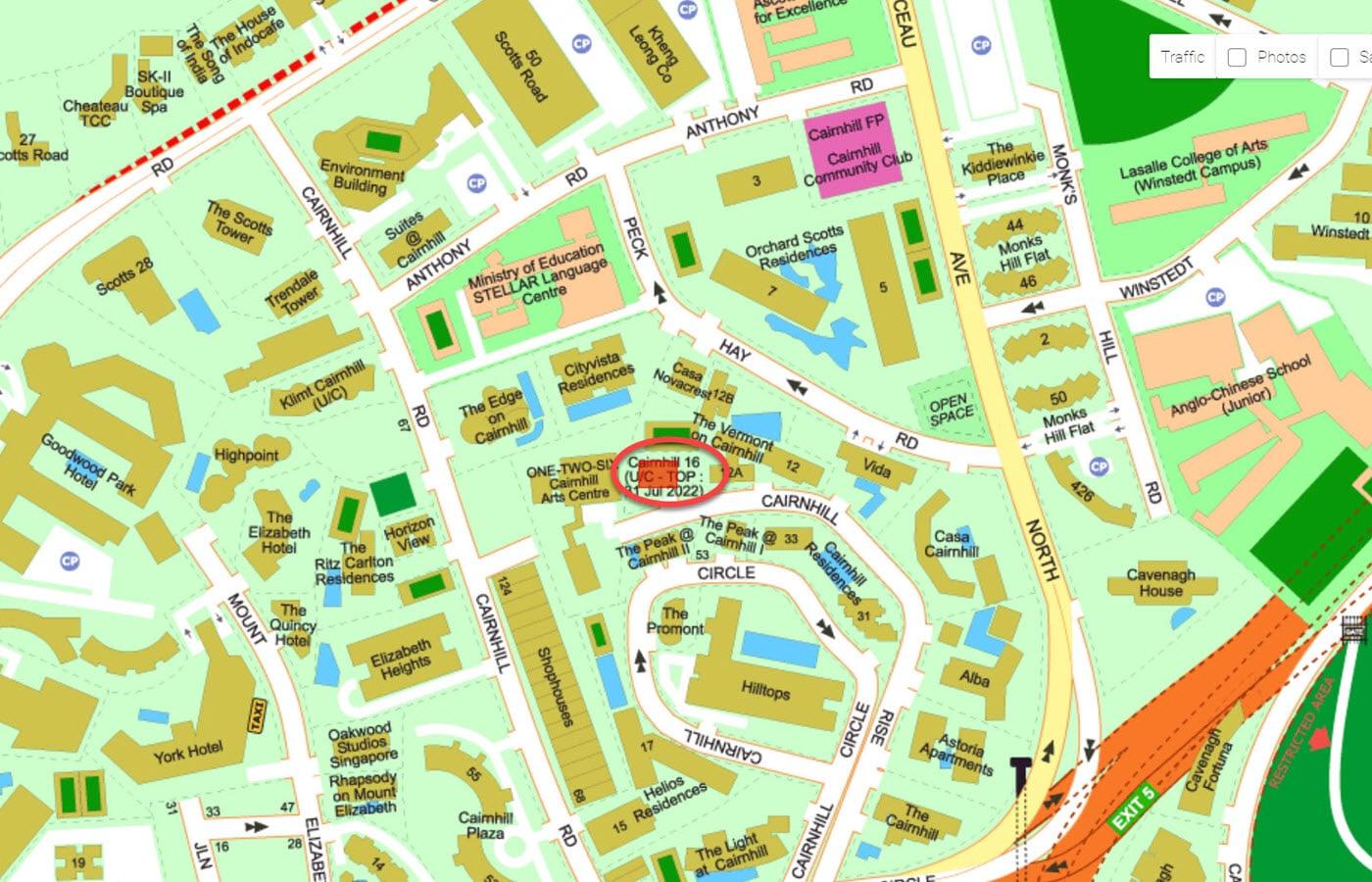Cairnhill 16 - Street Directory Map