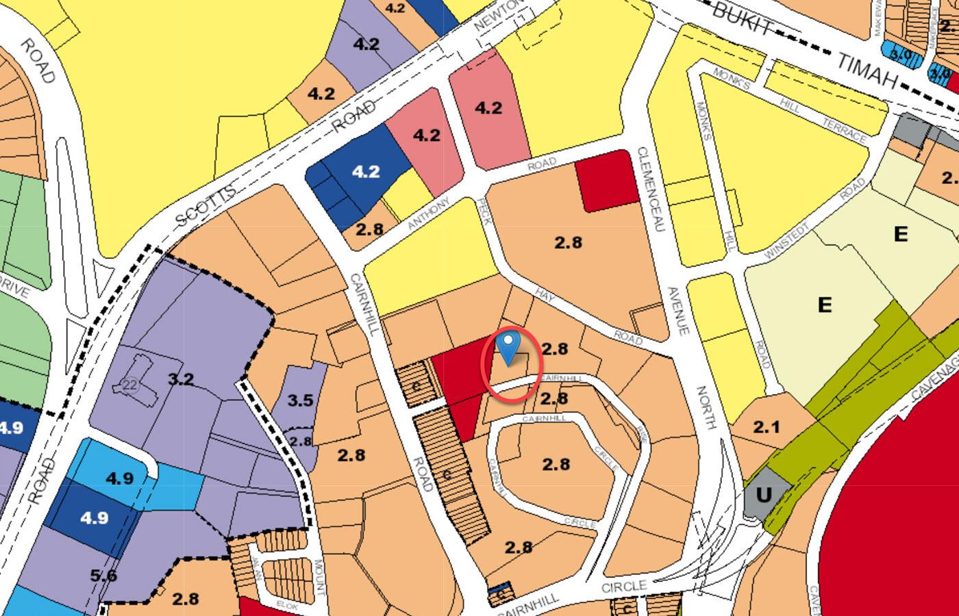 Cairnhill 16 - URA Master Plan Map
