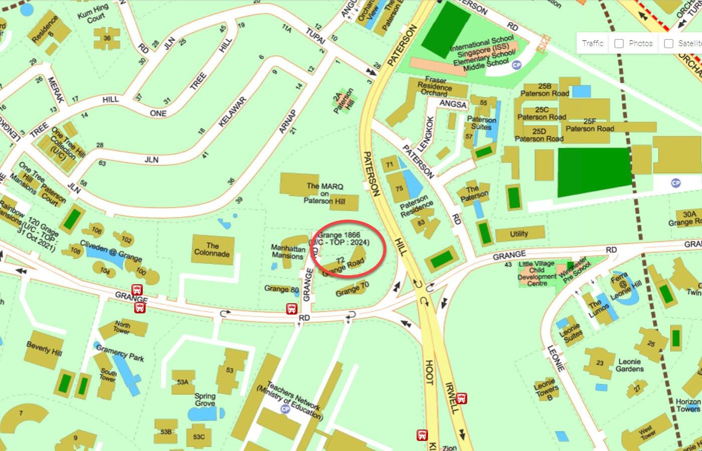 Grange 1866 - Street Directory Map