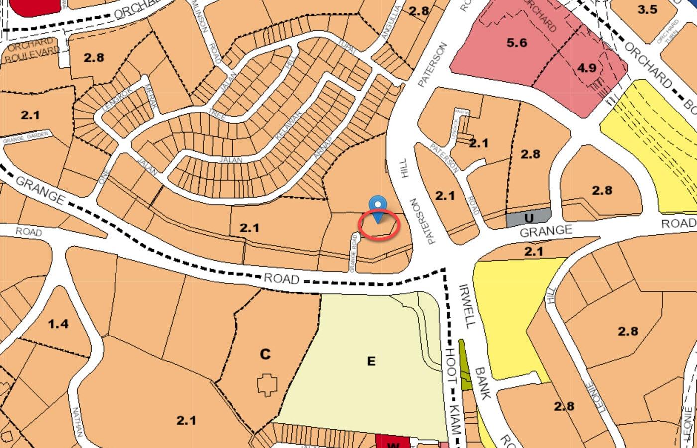 Grange 1866 - URA Master Plan Map