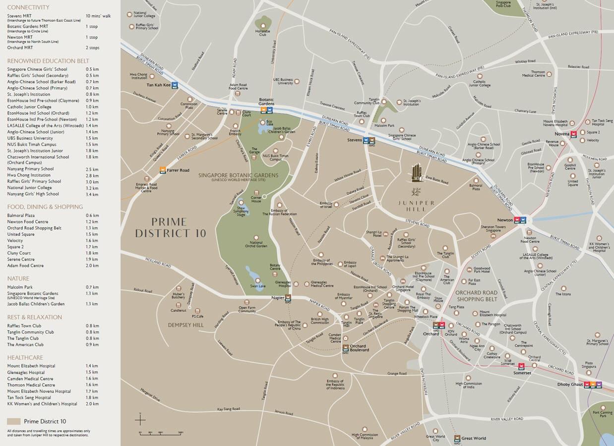 Juniper Hill - Location Map