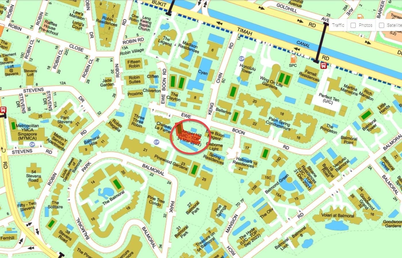 Juniper Hill - Street Directory Map