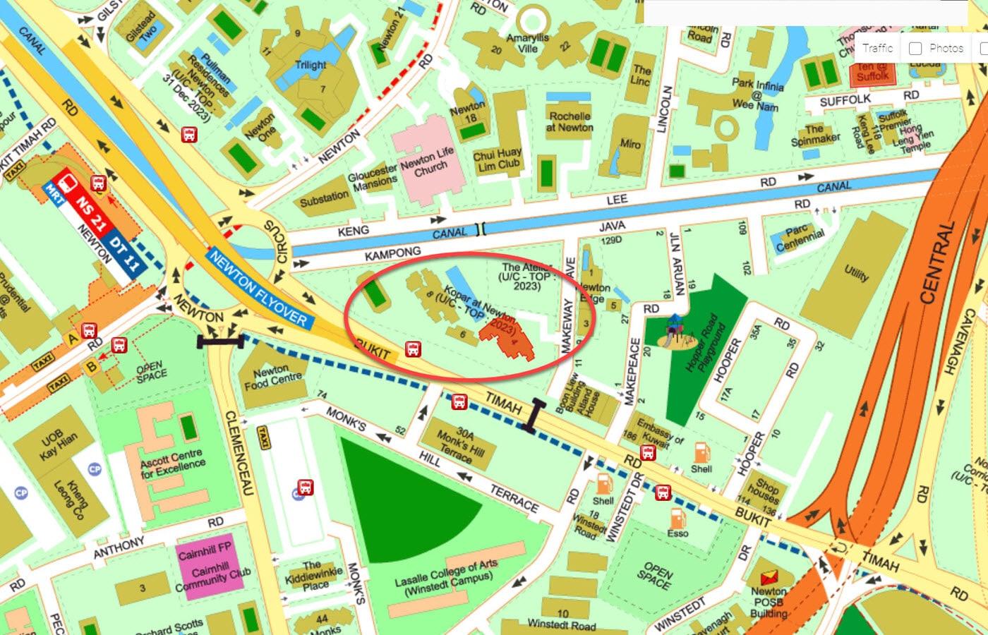 Kopar at Newton - Street Directory Map