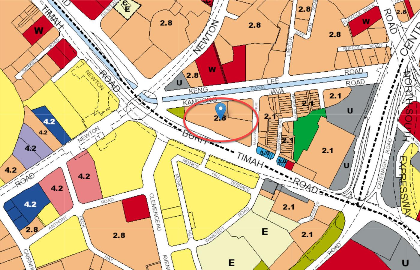 Kopar at Newton - URA Master Plan Map