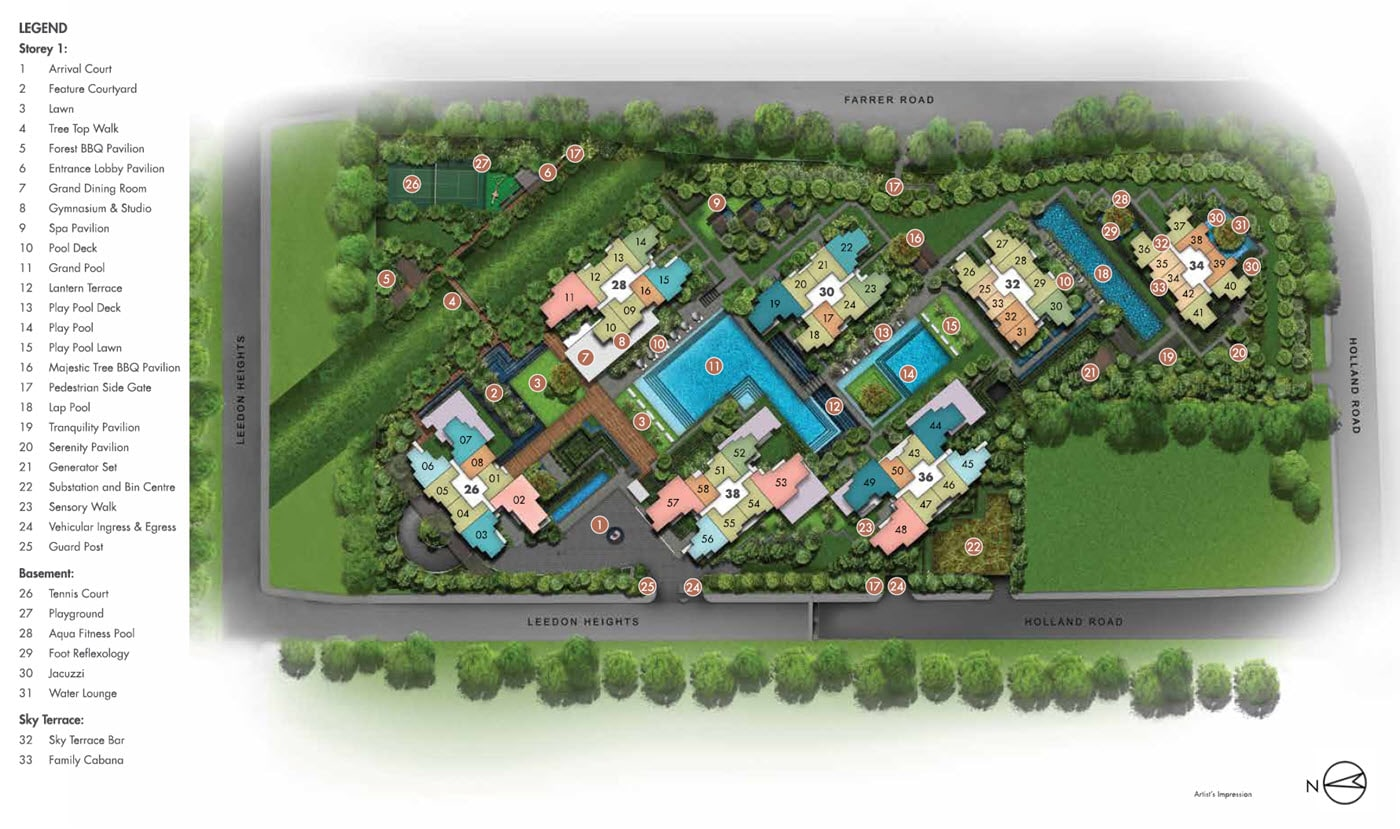 Leedon Green - Site Plan