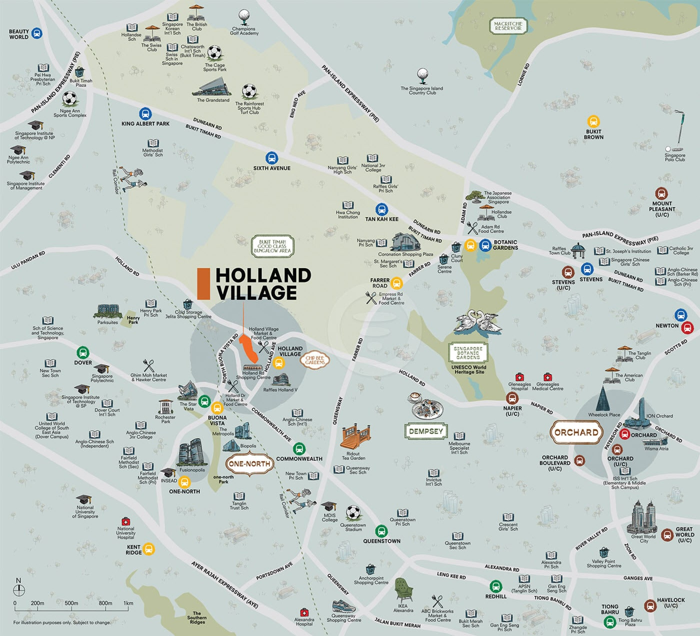 One Holland Village Residences - Location Map