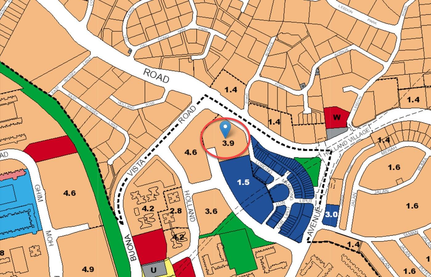 One Holland Village Residences - URA Master Plan Map