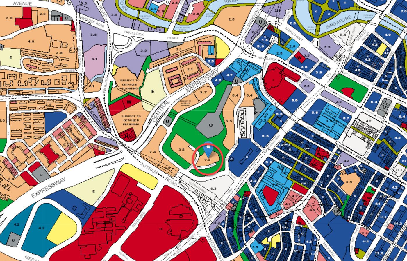 One Pearl Bank - URA Master Plan Map