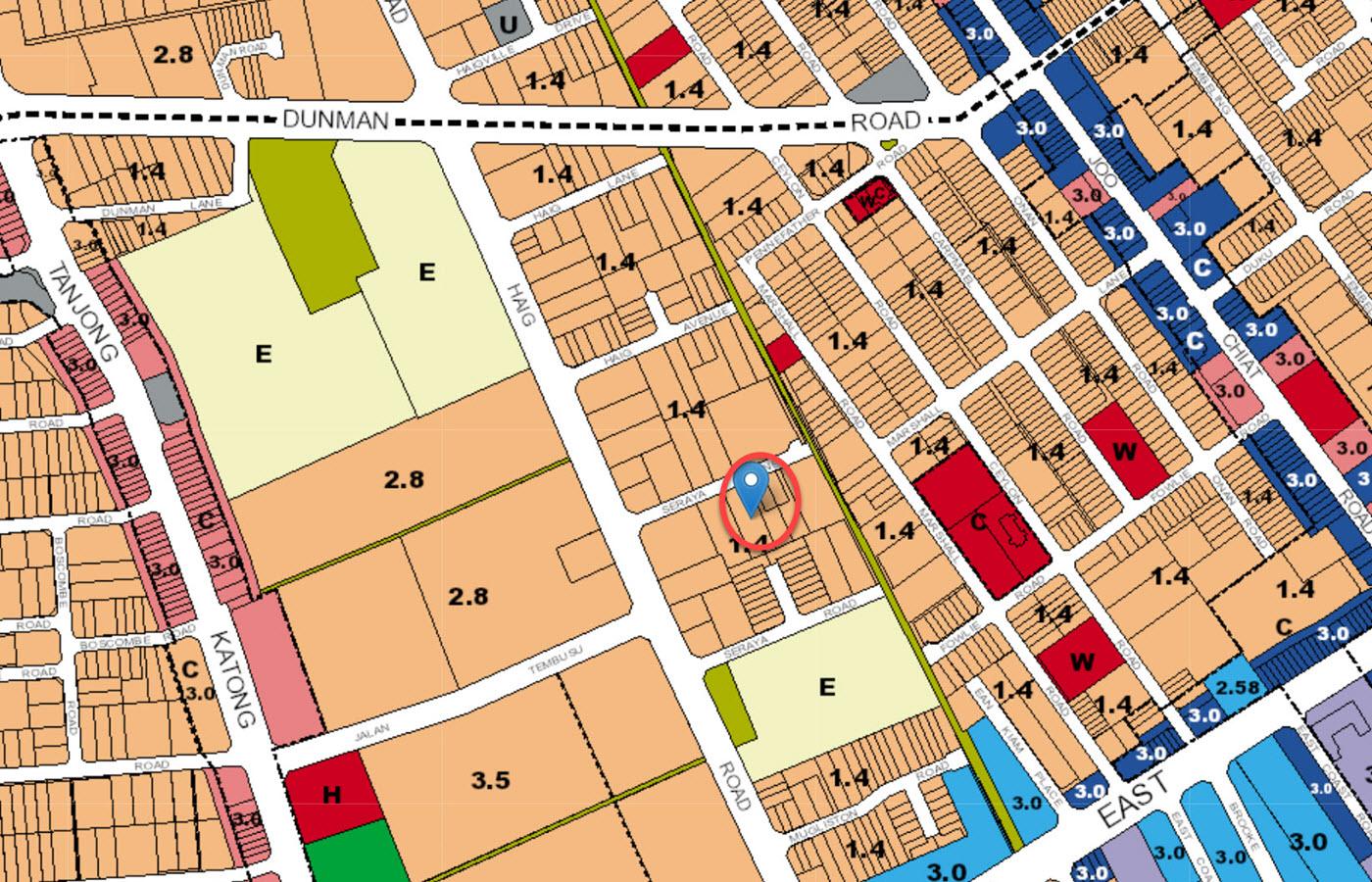 Seraya Residences - URA Master Plan Map
