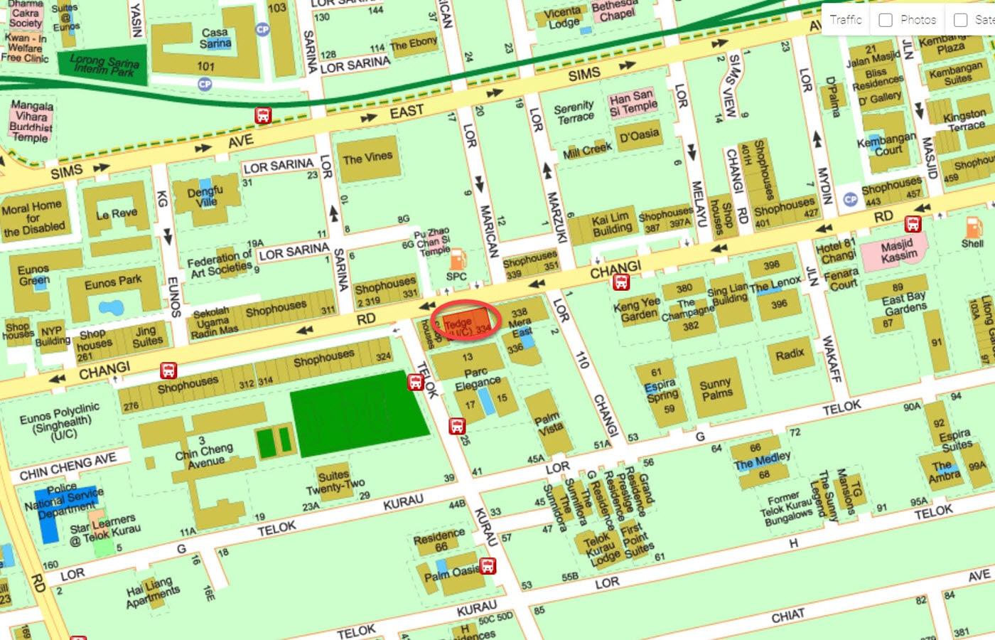 Tedge - Street Directory Map
