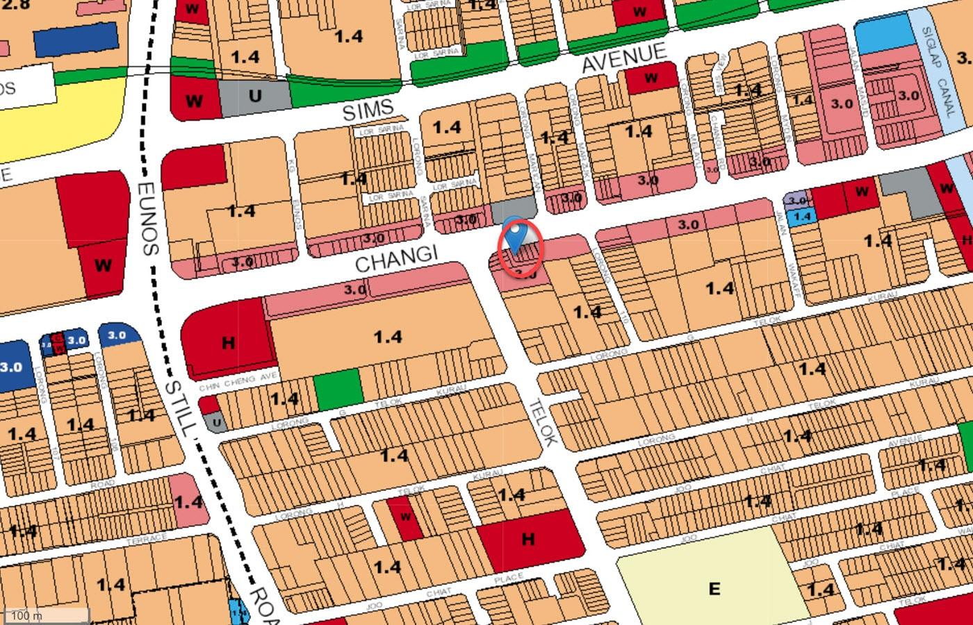 Tedge - URA Master Plan Map