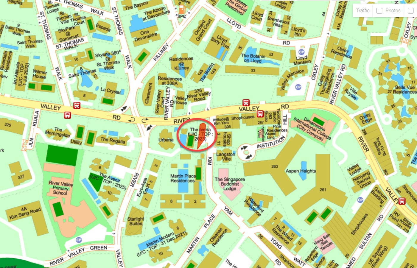 The Iveria - Street Directory Map