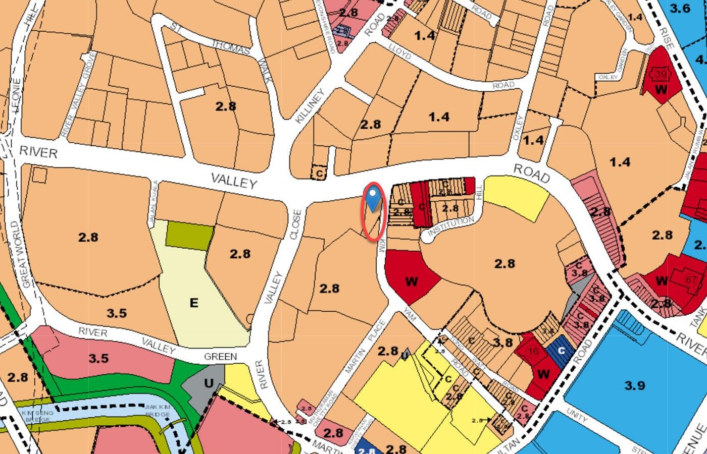 The Iveria - URA Master Plan Map