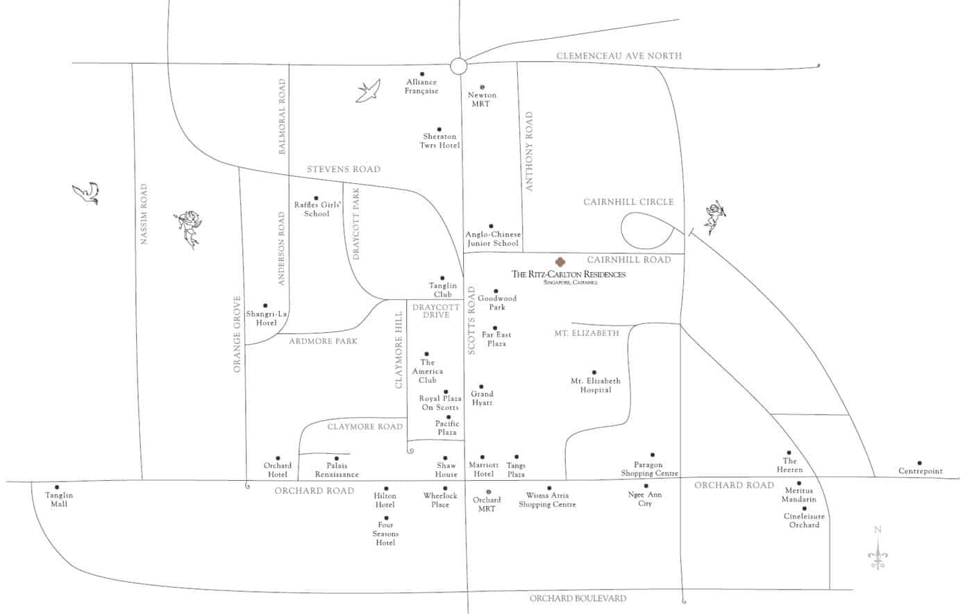 The Ritz-Carlton Residences - Location Map