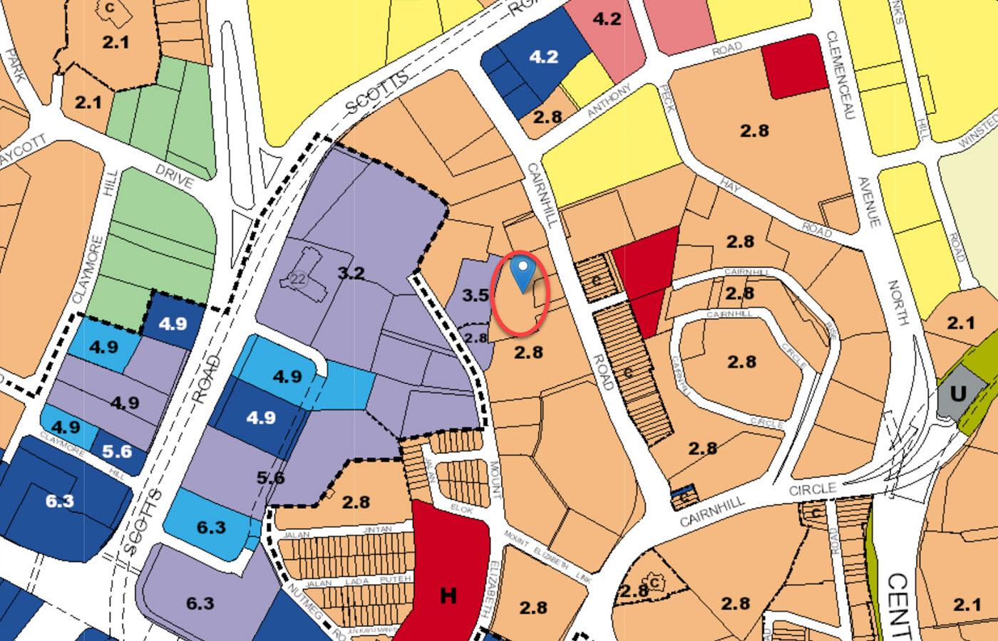 The Ritz-Carlton Residences - URA Master Plan Map