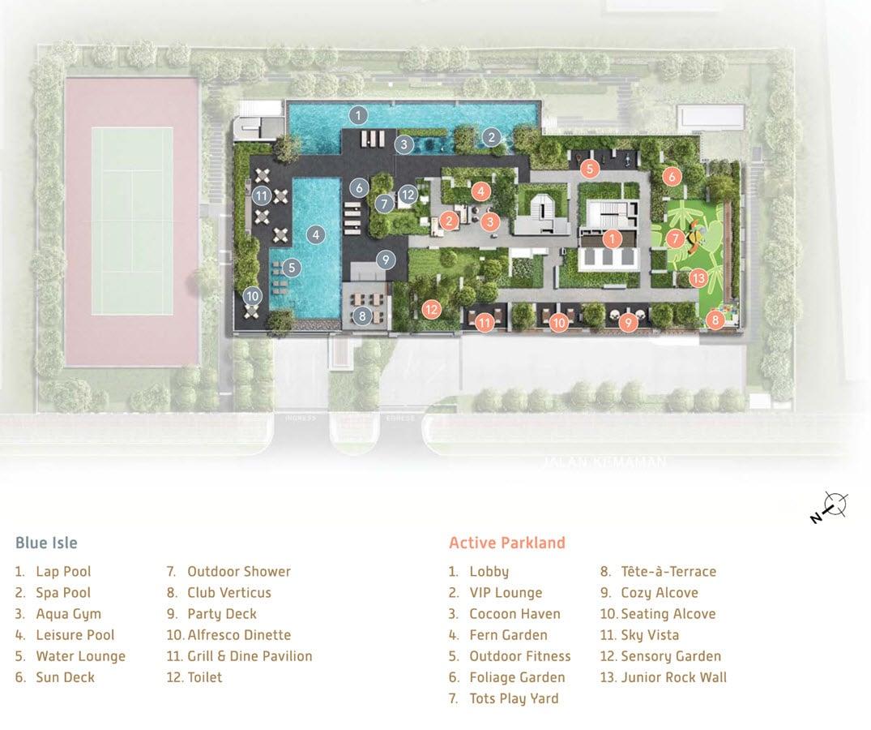 Verticus - Facilities - Blue Isle, Active Parkland