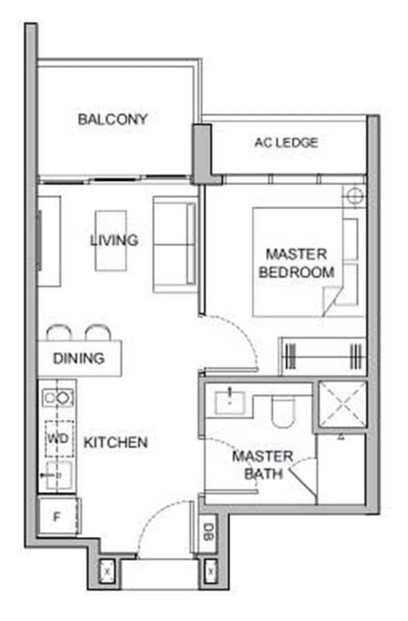 Verticus - Show Unit - 1 Bedroom A1