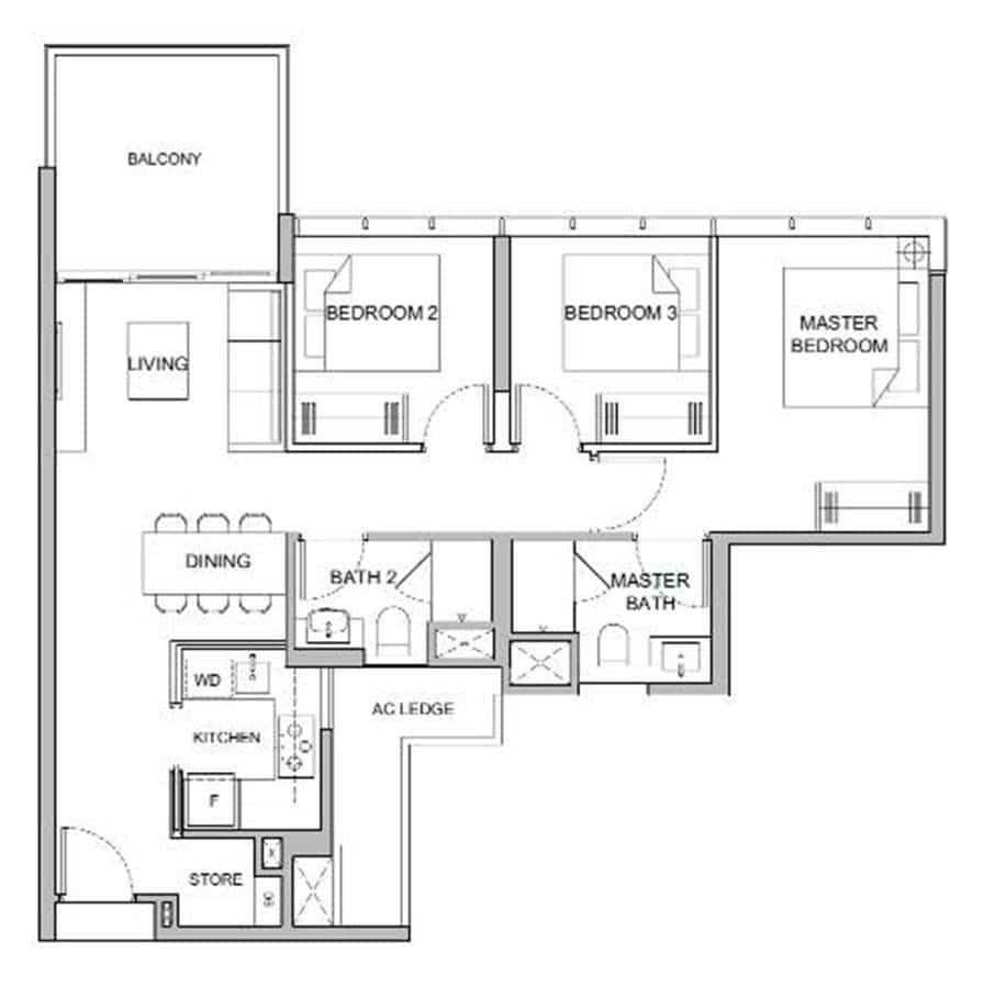 Verticus - Show Unit - 3 Bedroom C1