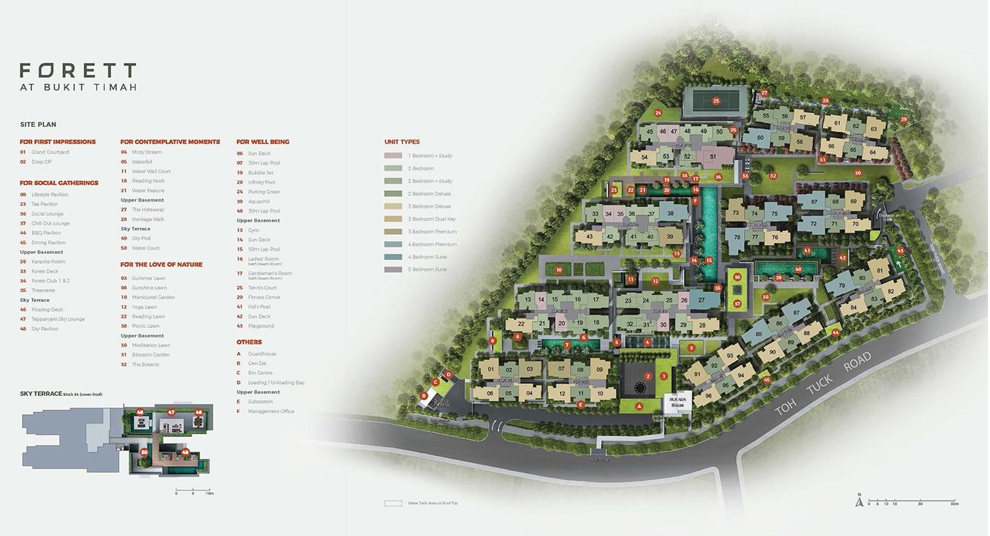 Forett At Bukit Timah Condo Facilities - Site Plan