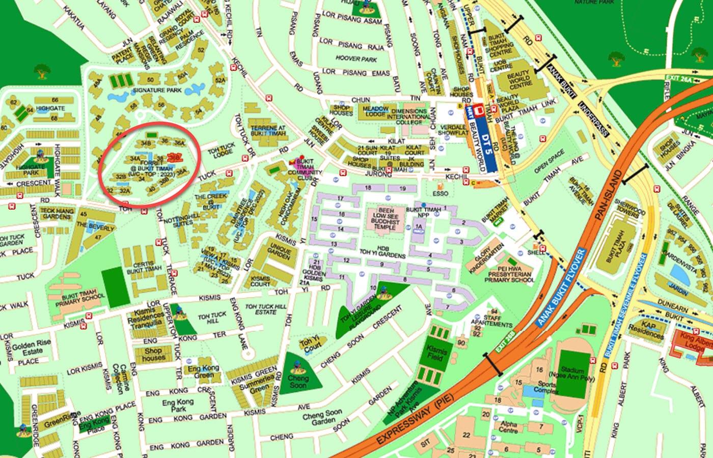 Forett At Bukit Timah Condo Location - Street Directory Map