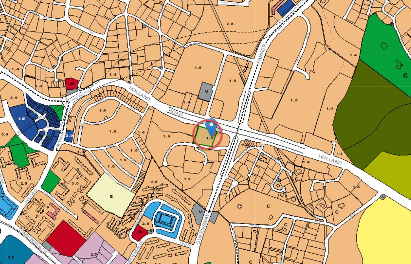 Hyll On Holland Condo Location - URA Master Plan Map