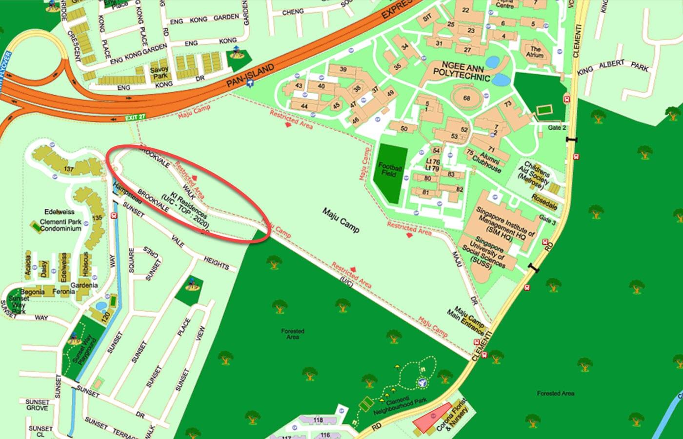 KI Residences at Brookvale Condo Location - Street Directory Map