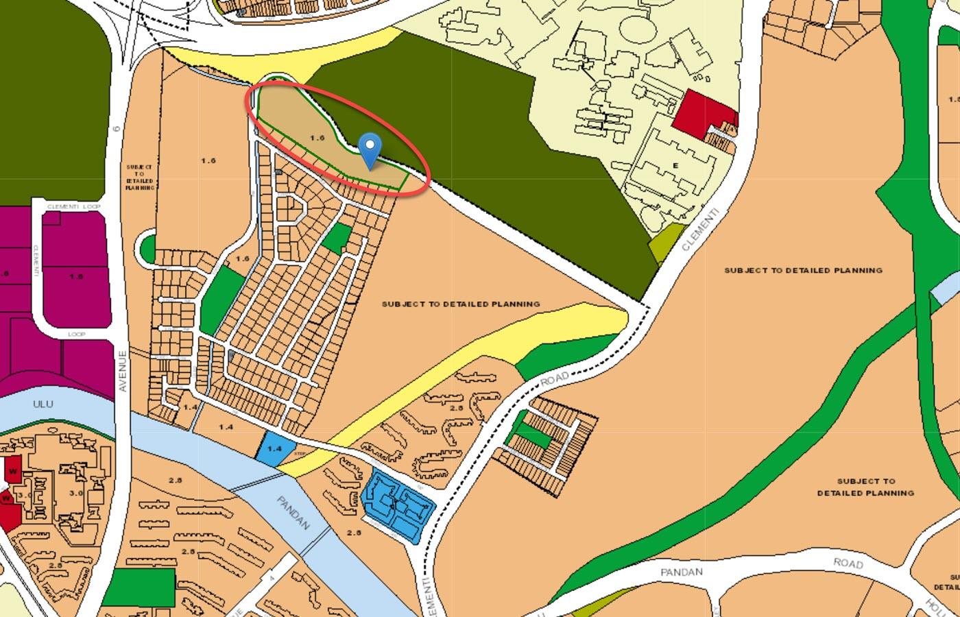 KI Residences at Brookvale Condo Location - URA Master Plan Map