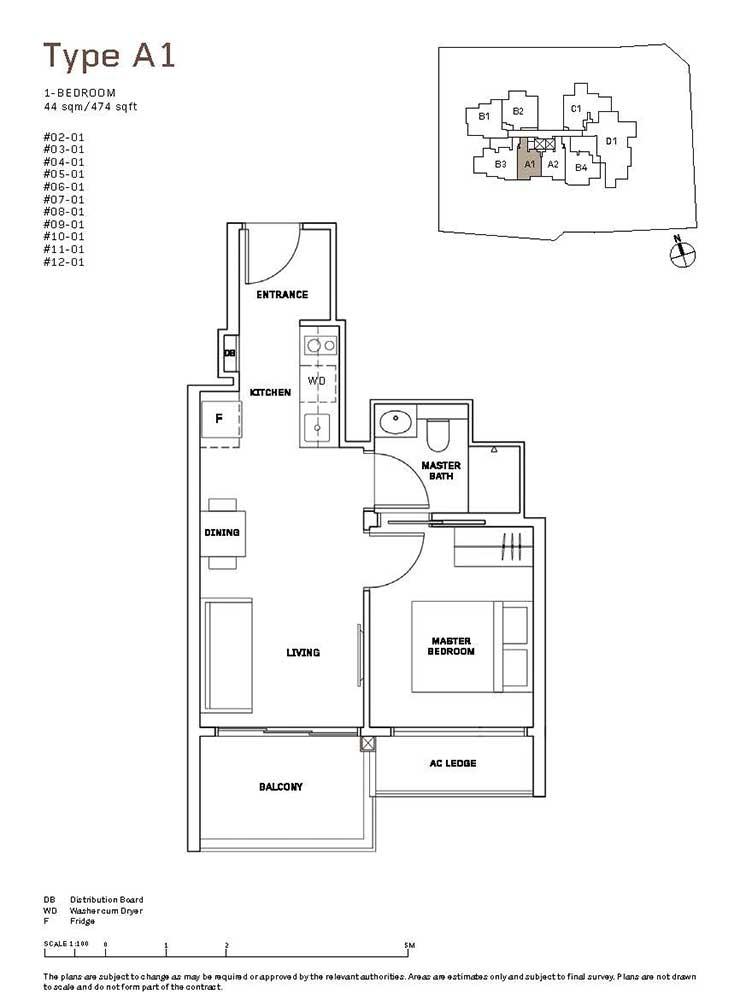MYRA-Condo-Floor-Plan-1-Bedroom-A1