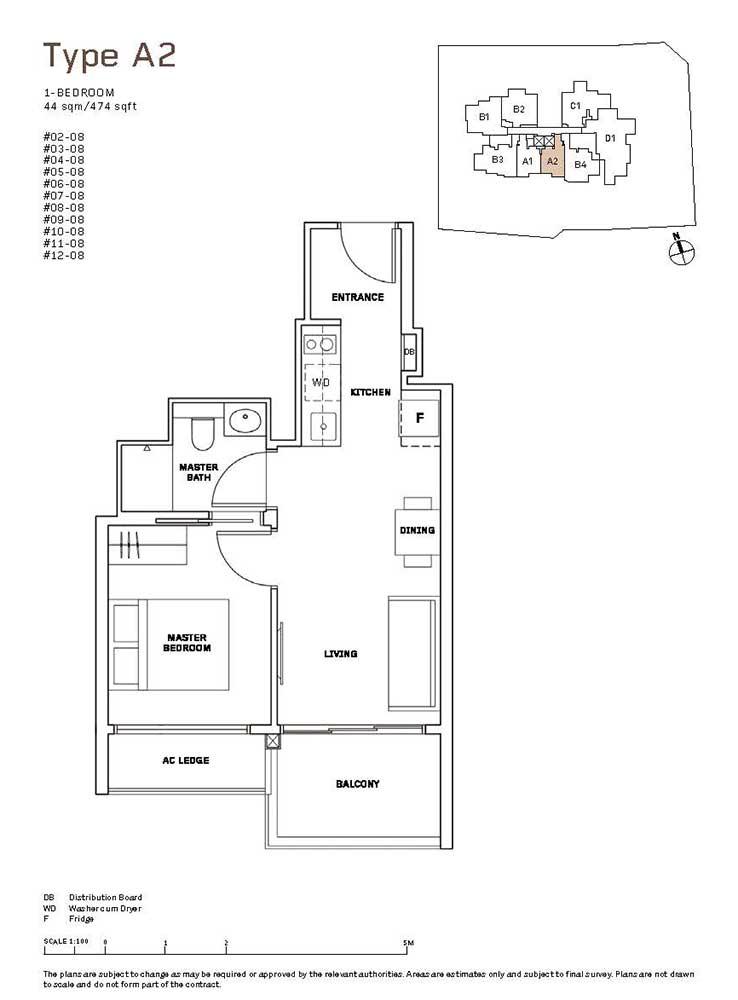 MYRA-Condo-Floor-Plan-1-Bedroom-A2