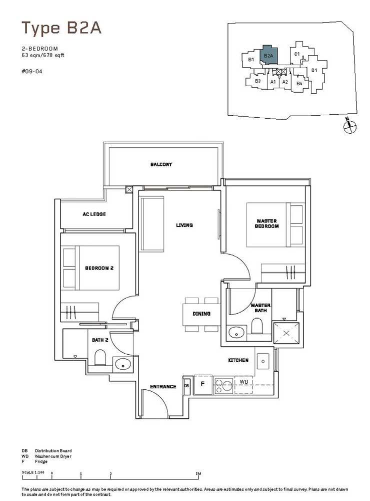 MYRA-Condo-Floor-Plan-2-Bedroom-B2A