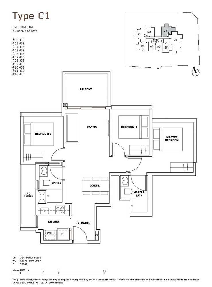 MYRA-Condo-Floor-Plan-3-Bedroom-C1