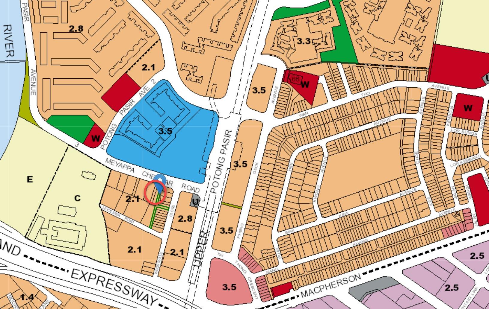 MYRA Condo Location - URA Master Plan Map