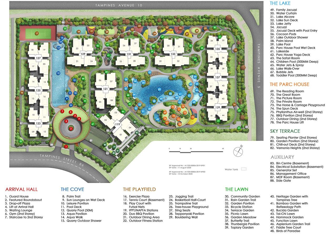 Parc Central Residences EC Facilities - Site Plan