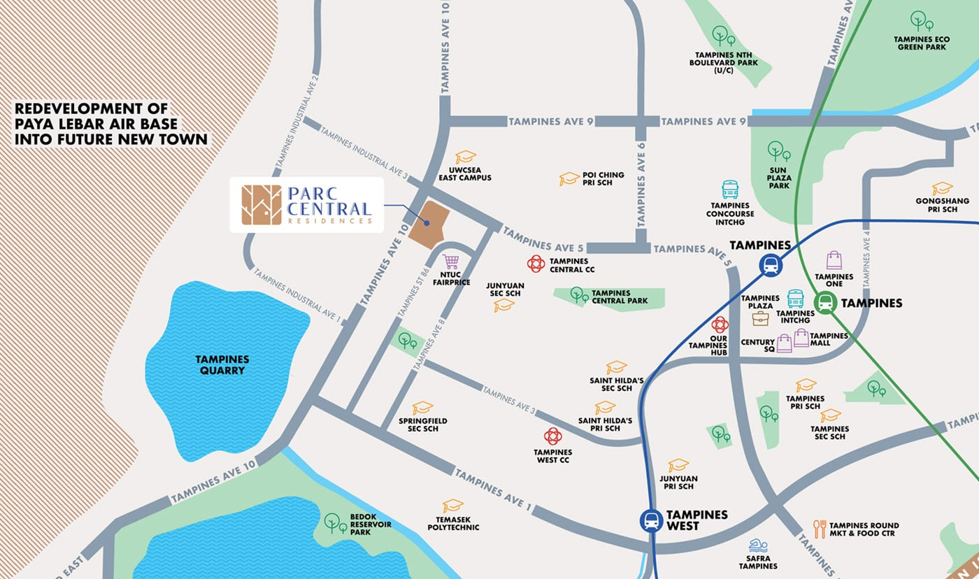 Parc Central Residences EC Location - Location Map