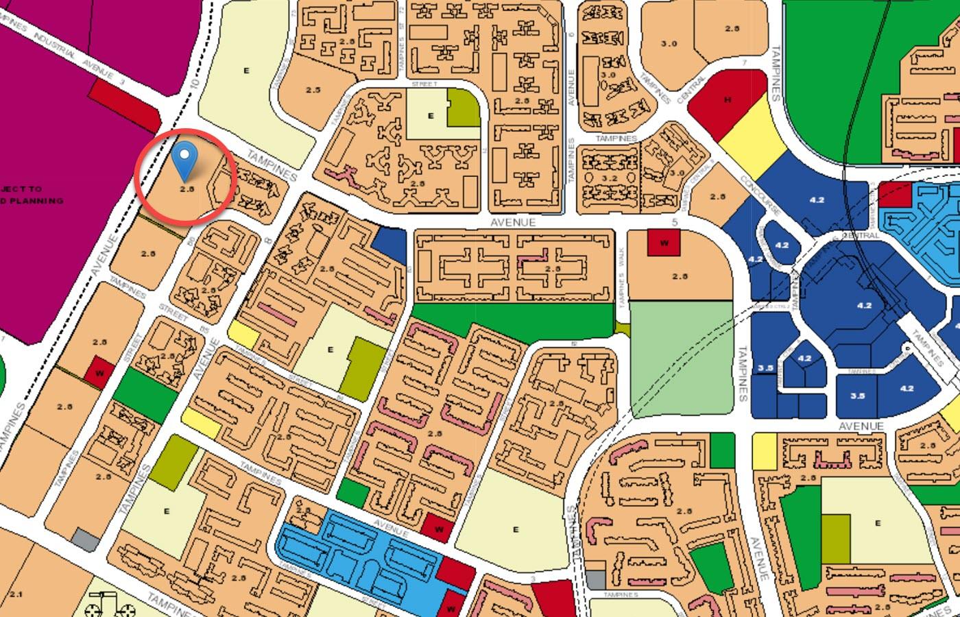 Parc Central Residences EC Location - URA Master Plan Map
