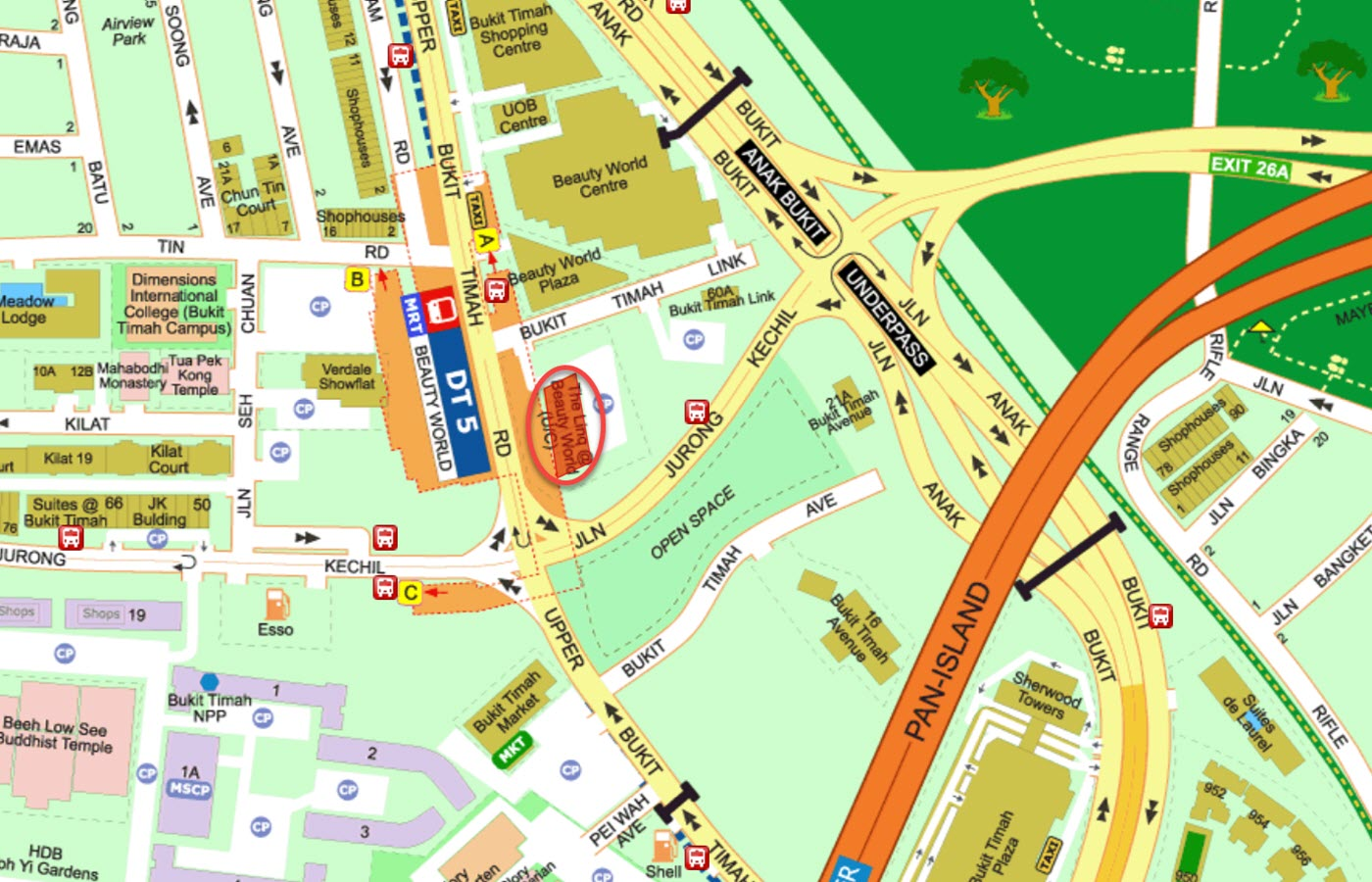 The Linq At Beauty World Condo Location - Street Directory Map