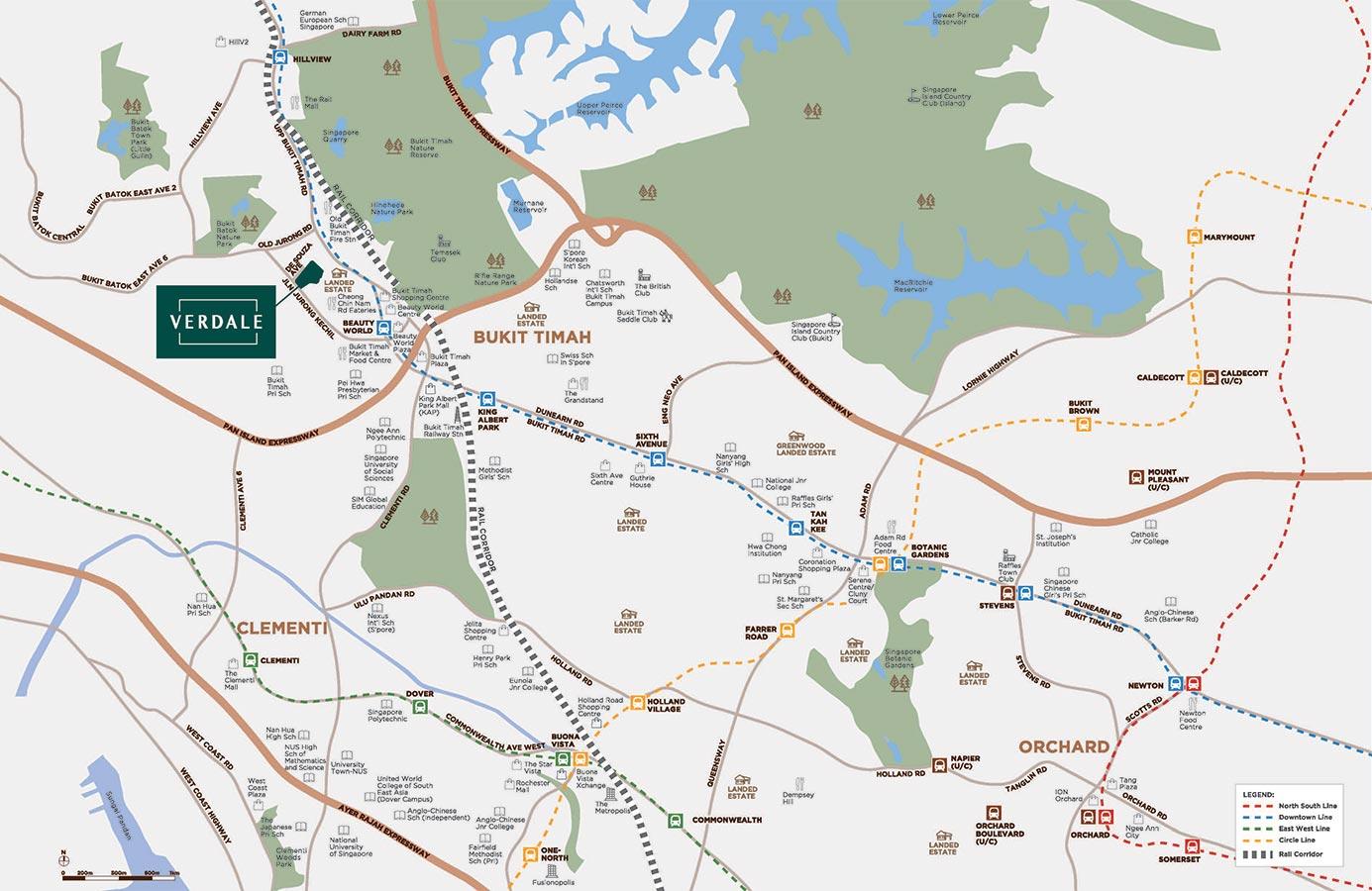 Verdale Condo Location - Location Map