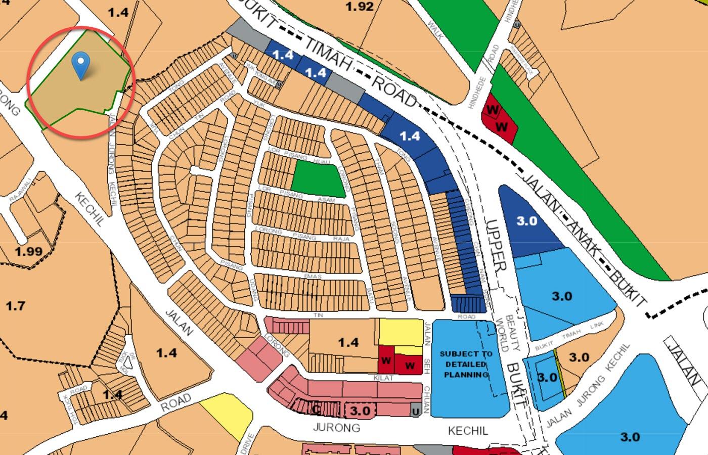 Verdale Condo Location - URA Master Plan Map