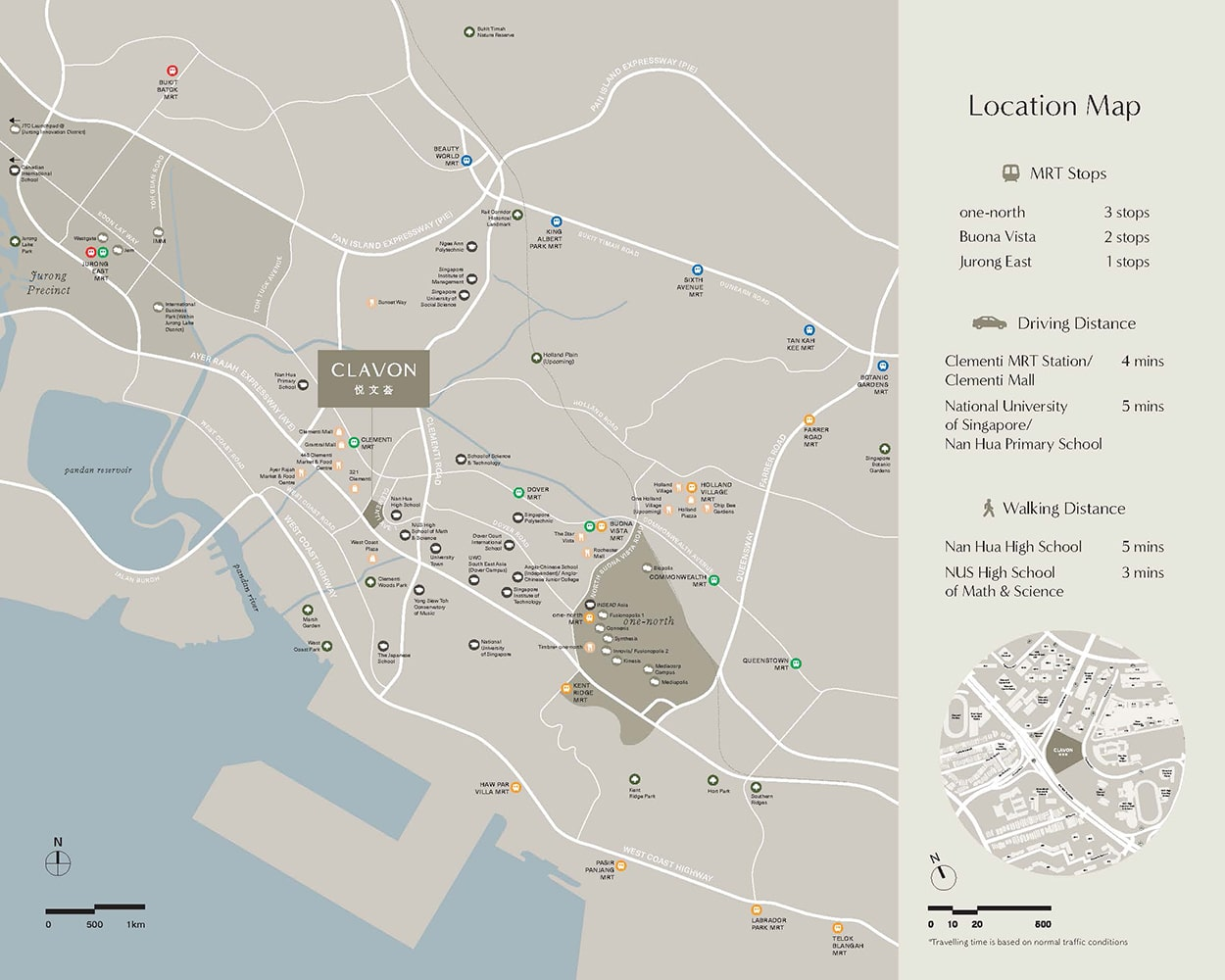 Clavon Condo Location -Location Map