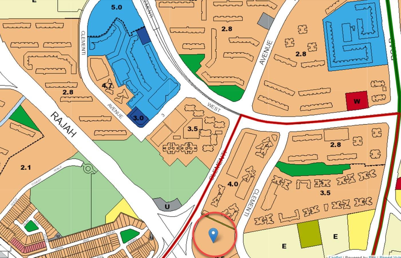 Clavon Condo Location - URA Master Plan Map