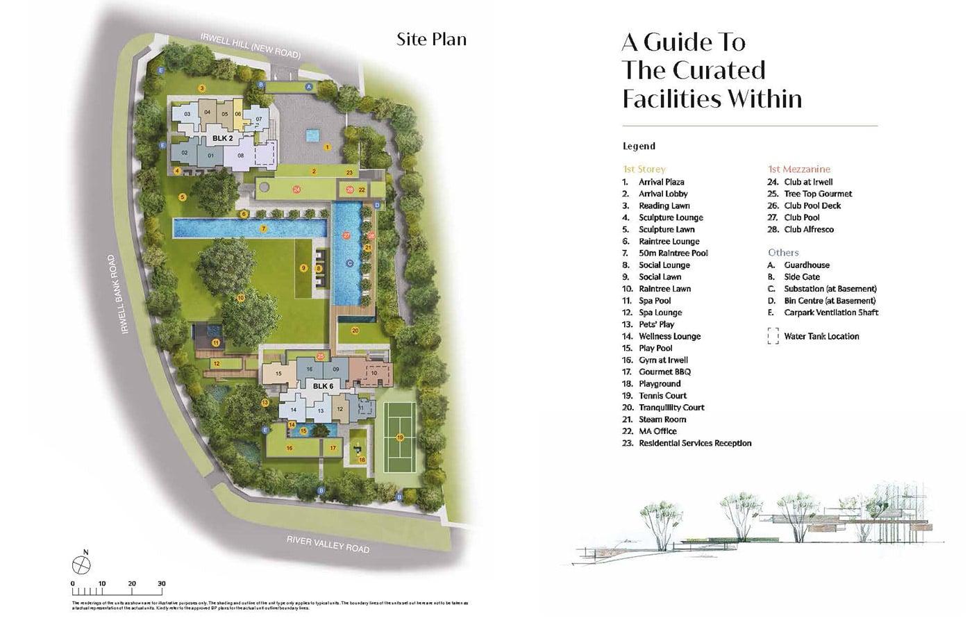 Irwell Hill Residences Condo Facilities - Site Plan
