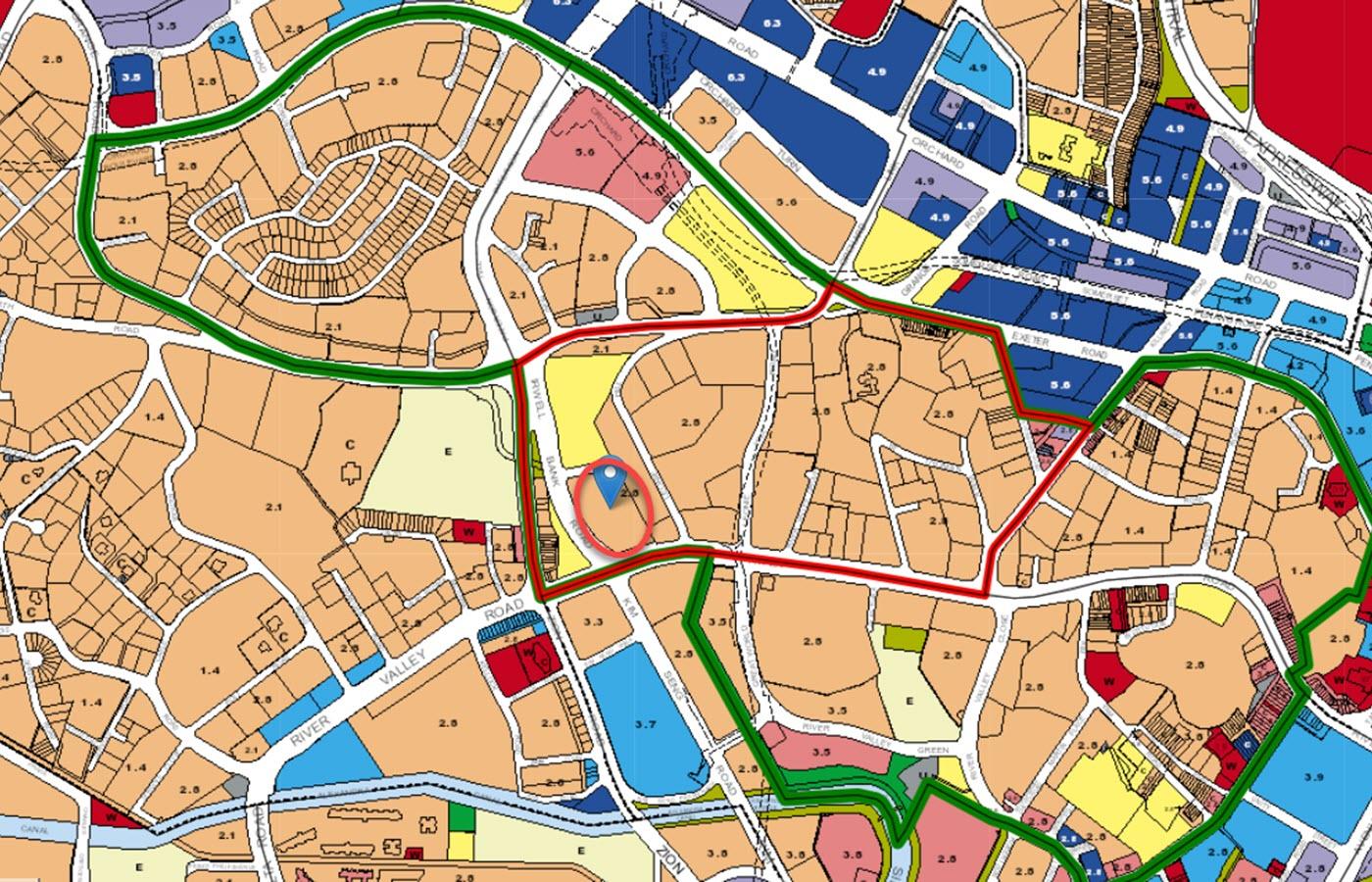 Irwell Hill Residences Condo Location - URA Master Plan Map