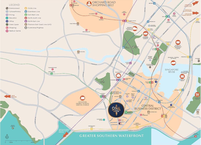 One Bernam Condo Location - Location Map