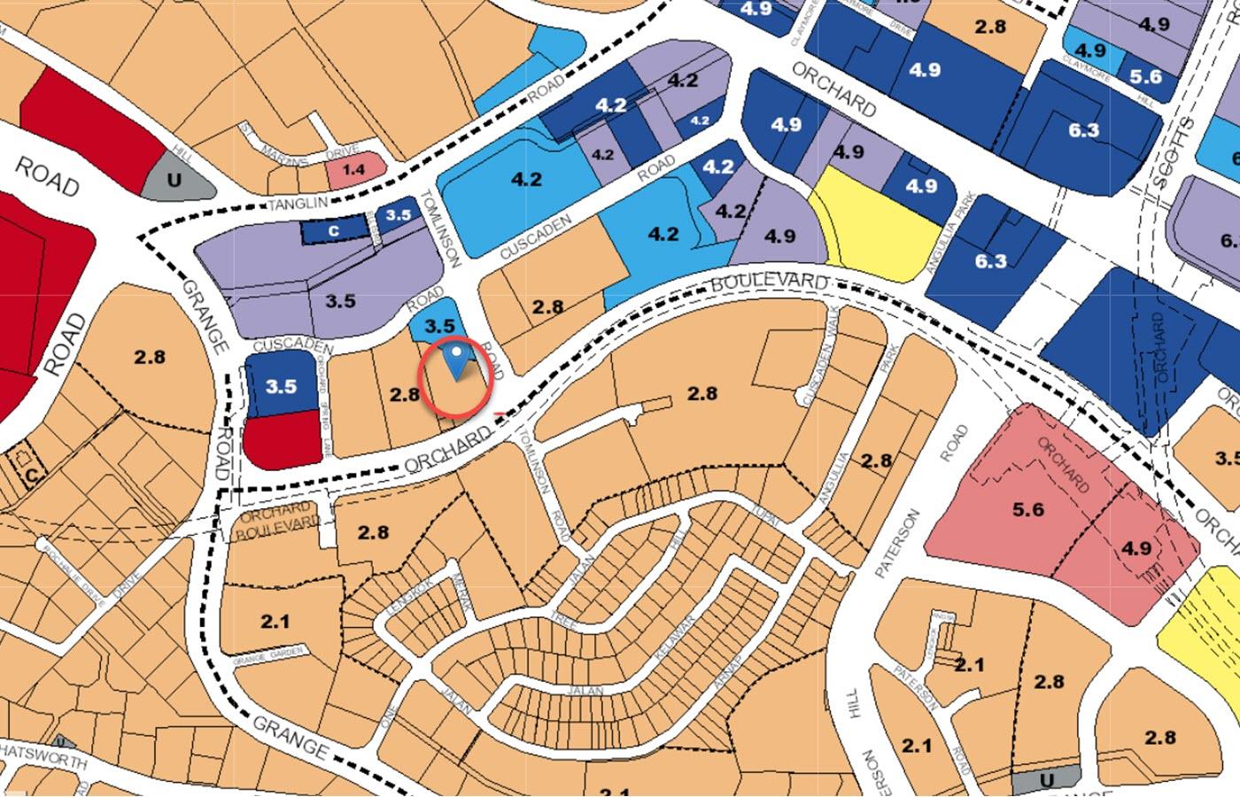 Park Nova Condo Location - URA Master Plan Map